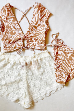 Lace Swim Shorts