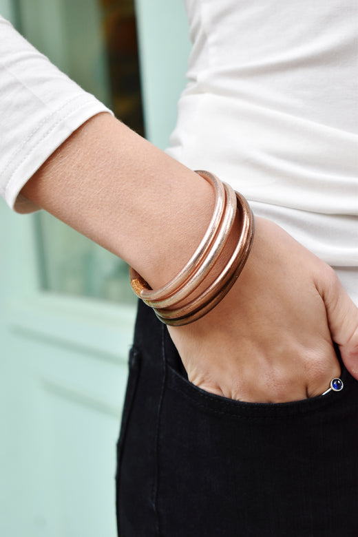Budha Girl Bangles Set/4 Fawn