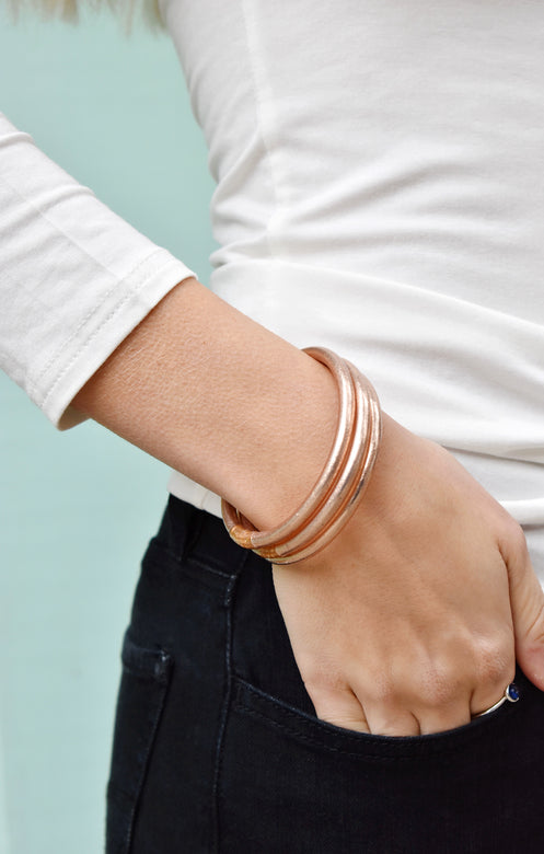 Budha Girl Bangles Set/3 Rose Gold