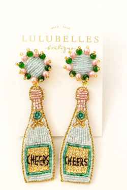 Lulubelles Signature Champagne Cheers Boozy Earrings