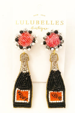 Champagne Veuve Boozy Earrings