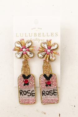 Champagne Sparkling Rose Boozy Earrings