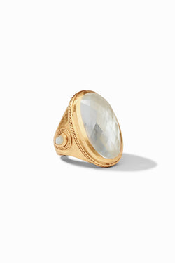 Julie Vos, Cassis Ring - Iridescent Clear Crystal