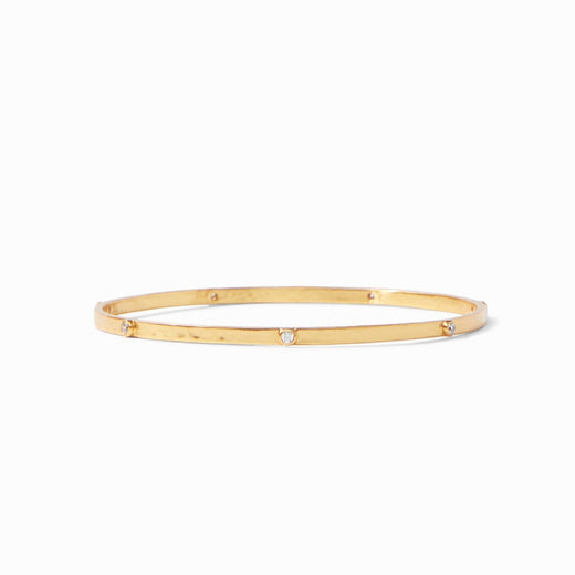 Julie Vos, Crescent Gold Cubic Zirconia Bangle