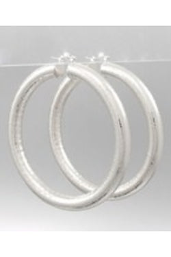 Round Tube Hoop Earrings