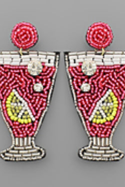 Cocktail Bead Earring