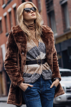 Java Fur Midi Jacket