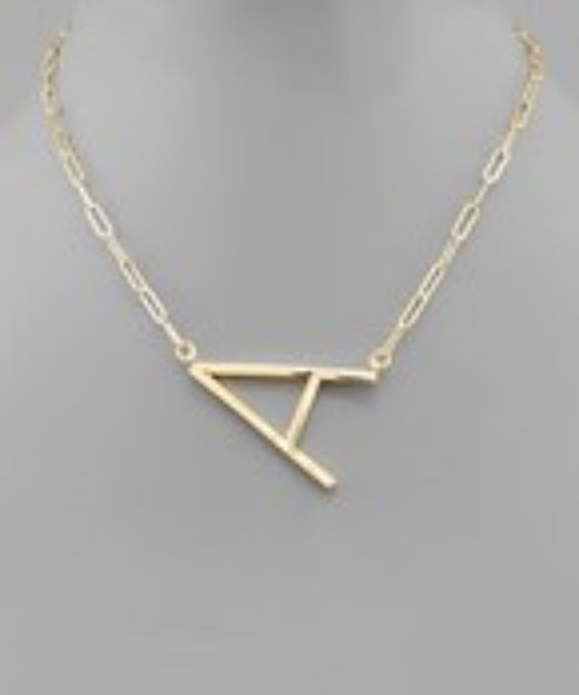Paperclip Initial Necklaces - Large 1 1/2""