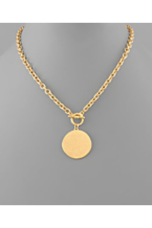 Disc Toggle Necklace
