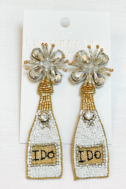 Champagne I Do Boozy Earrings
