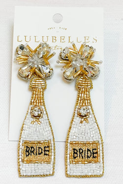 Champagne Bride Boozy Earrings