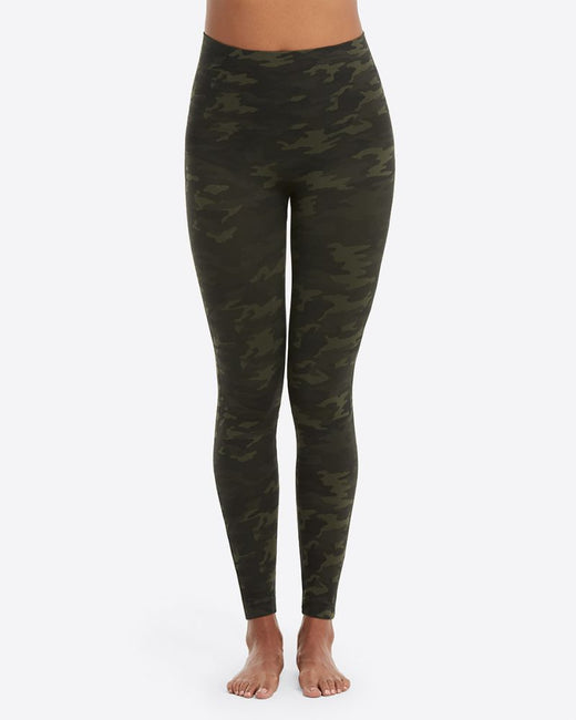 Spanx Look At Me Now Leggings, Green Camo