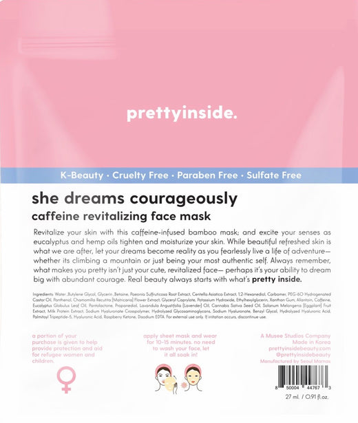 She Dreams Courageously Face Mask