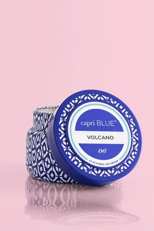 Volcano Printed Travel Tin, 8.5 oz