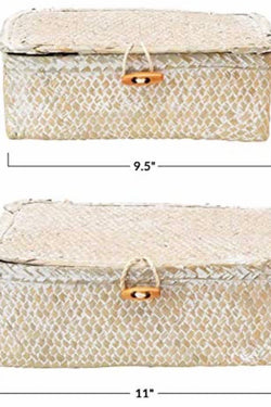 Woven Seagrass Box Large