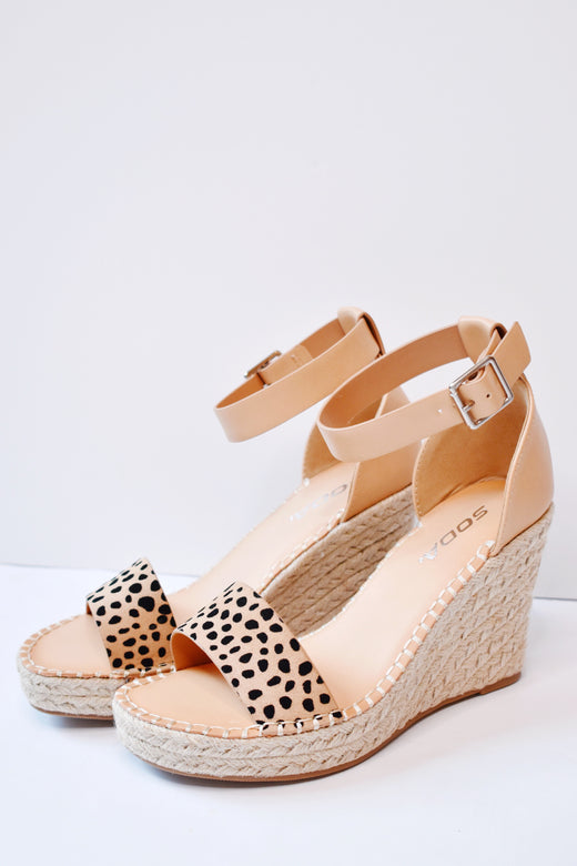 Cheetah Wedge Dress Sandal