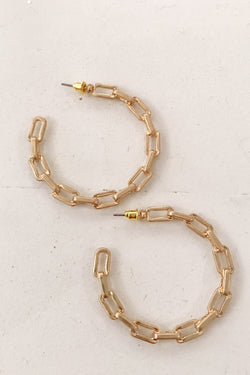 45mm Gold Chain Hoops