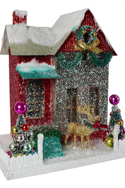 Cody Foster Merry & Bright Glitter Cottage