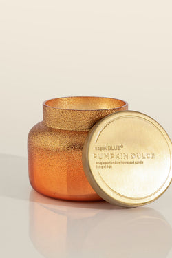 8oz Glam Glittered Ombre Pumpkin Dulce Candle