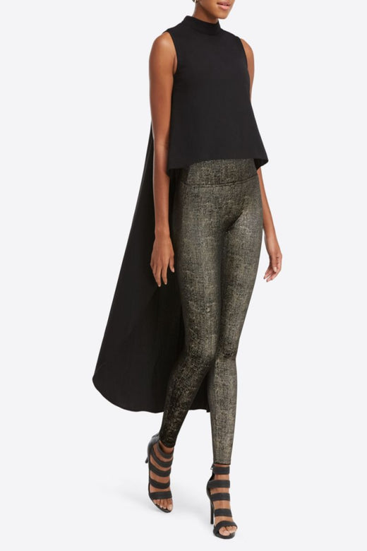 Spanx Velvet Shine Legging, Black/Gold