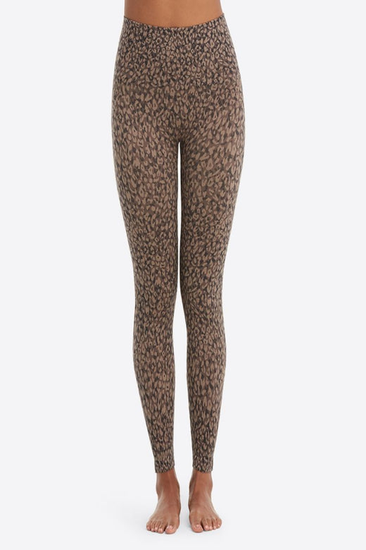 Spanx Look At Me Now Legging, Mini Leopard