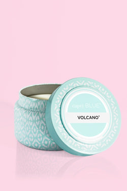8.5oz, Volcano Aqua Printed Travel Tin