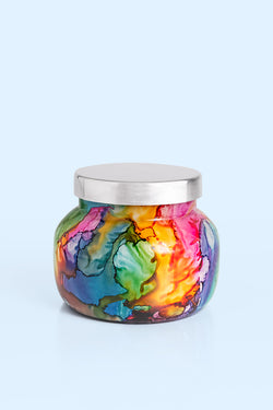 8oz. Volcano Rainbow Watercolor Petite Jar