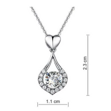 Load image into Gallery viewer, Twinkling Heart Waterdrop Stone Necklace