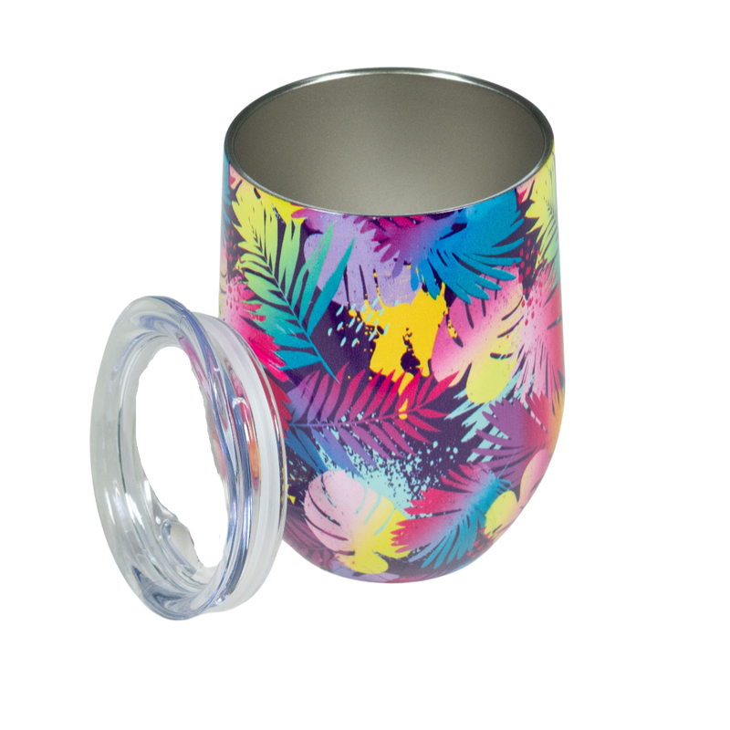 Wine Tumbler  Floral Dream 12oz Stainless Steel Tumbler