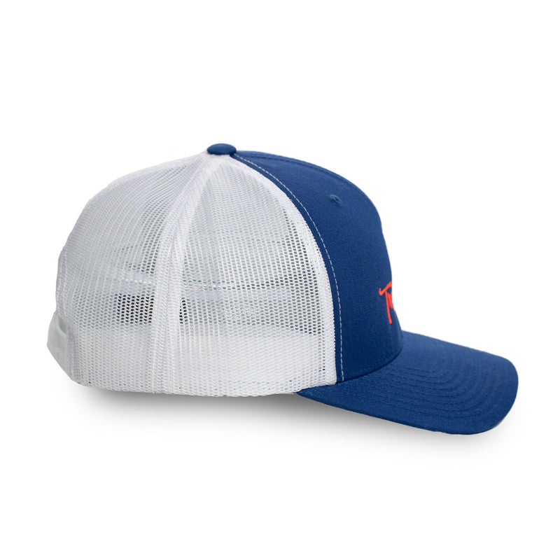 Royal Blue Trucker Style Structured Hat