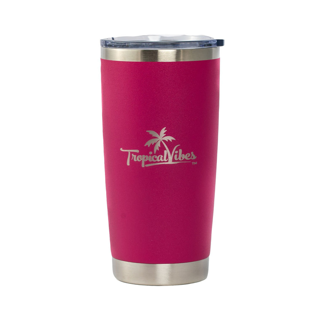 Insulated 20-oz Stainless Steel Tumbler (Magenta)