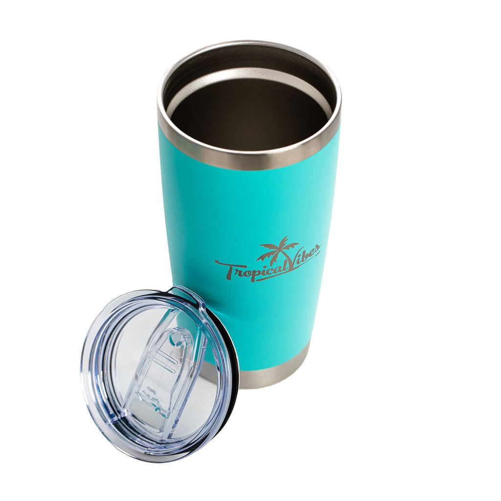Insulated 20-oz Stainless Steel Tumbler (Turquoise)