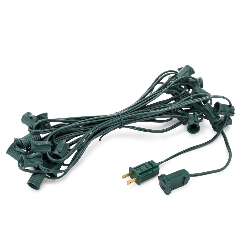 C7 Light Stringers With E12 Sockets · SPT-1 Wire - Holiday Lighting Outlet