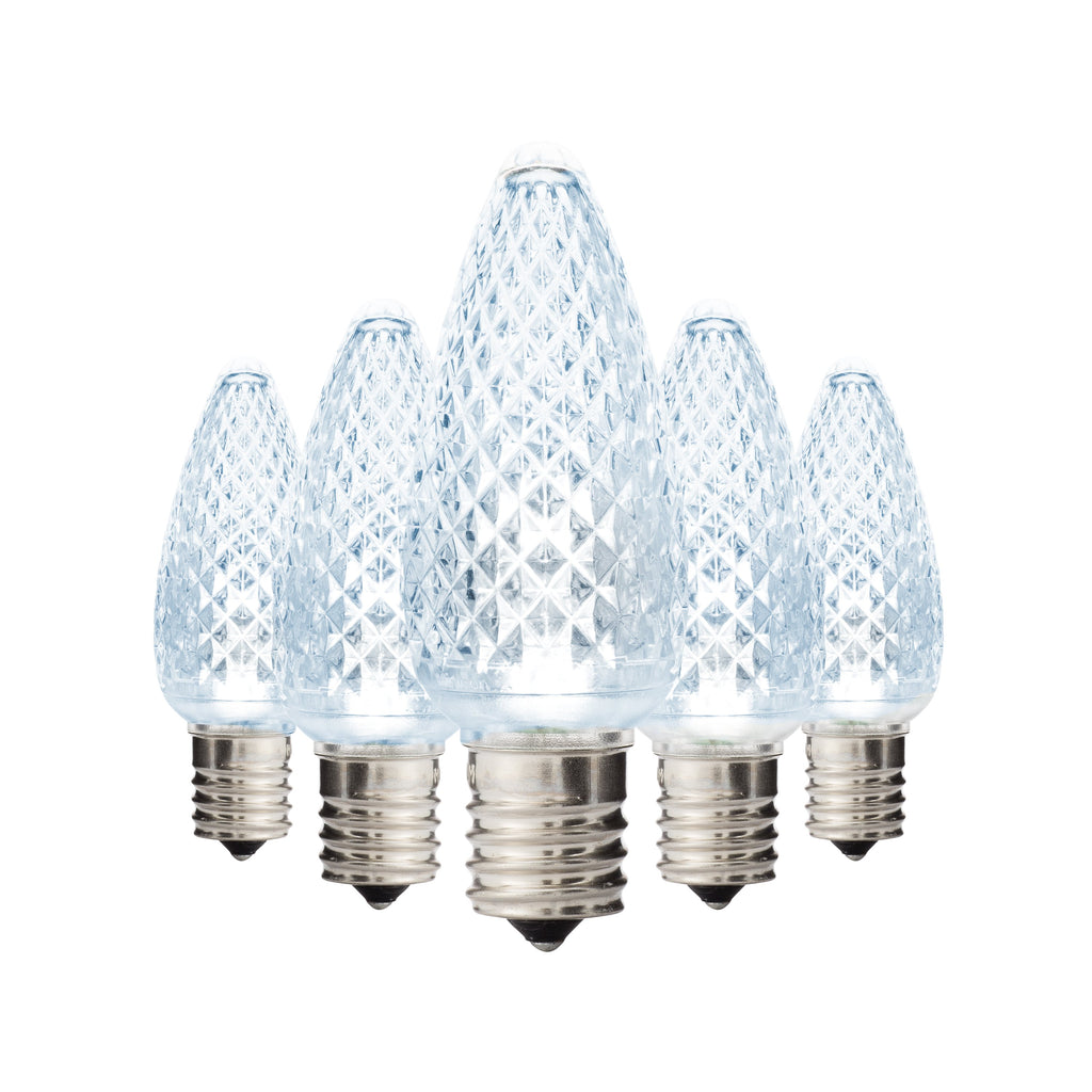 Cool White C9 Faceted Bulbs