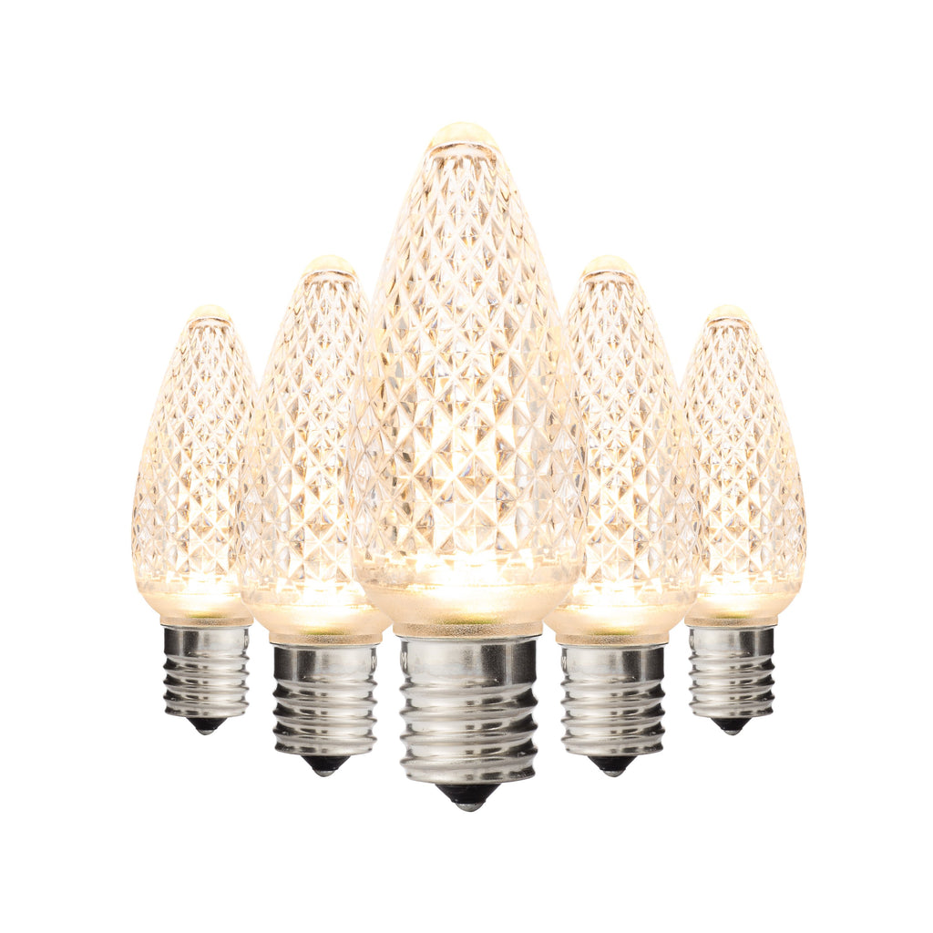 Sun Warm White C9 Faceted Bulbs