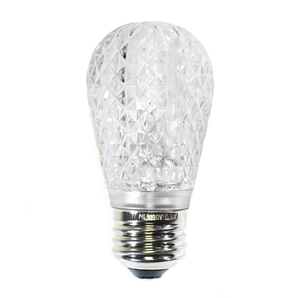 S14 LED Festive Bulbs · Faceted - Holiday Lighting Outlet