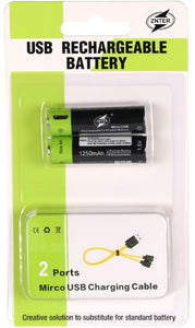 Quick Charge USB Rechargeable Lithium Batteries