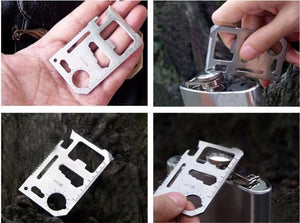 11 in 1 Stainless Steel Multitool Card