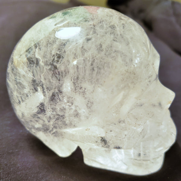 Skull, Clear Quartz, Beautiful clarity, gorgeous inclusions and nice size #003