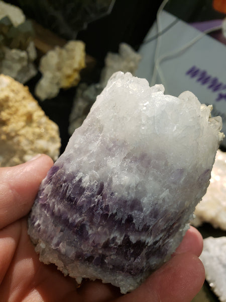 Specimens 004 Calcite on Amethyst Formation