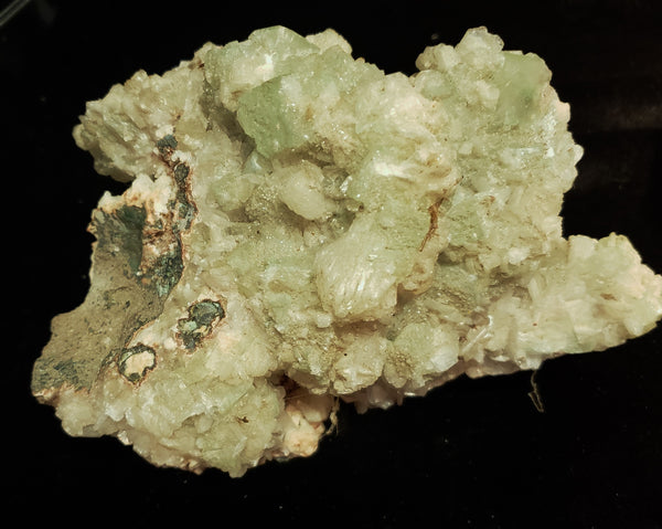Specimens 018 Calcite with Fluorite and possibly Adamite