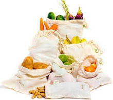 Load image into Gallery viewer, Reusable Cotton Produce Bag or Cotton Bread Bag