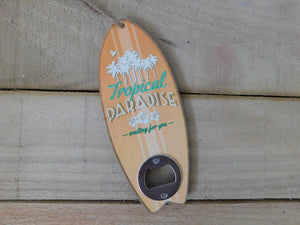 Wooden Surfboard Bottle Opener