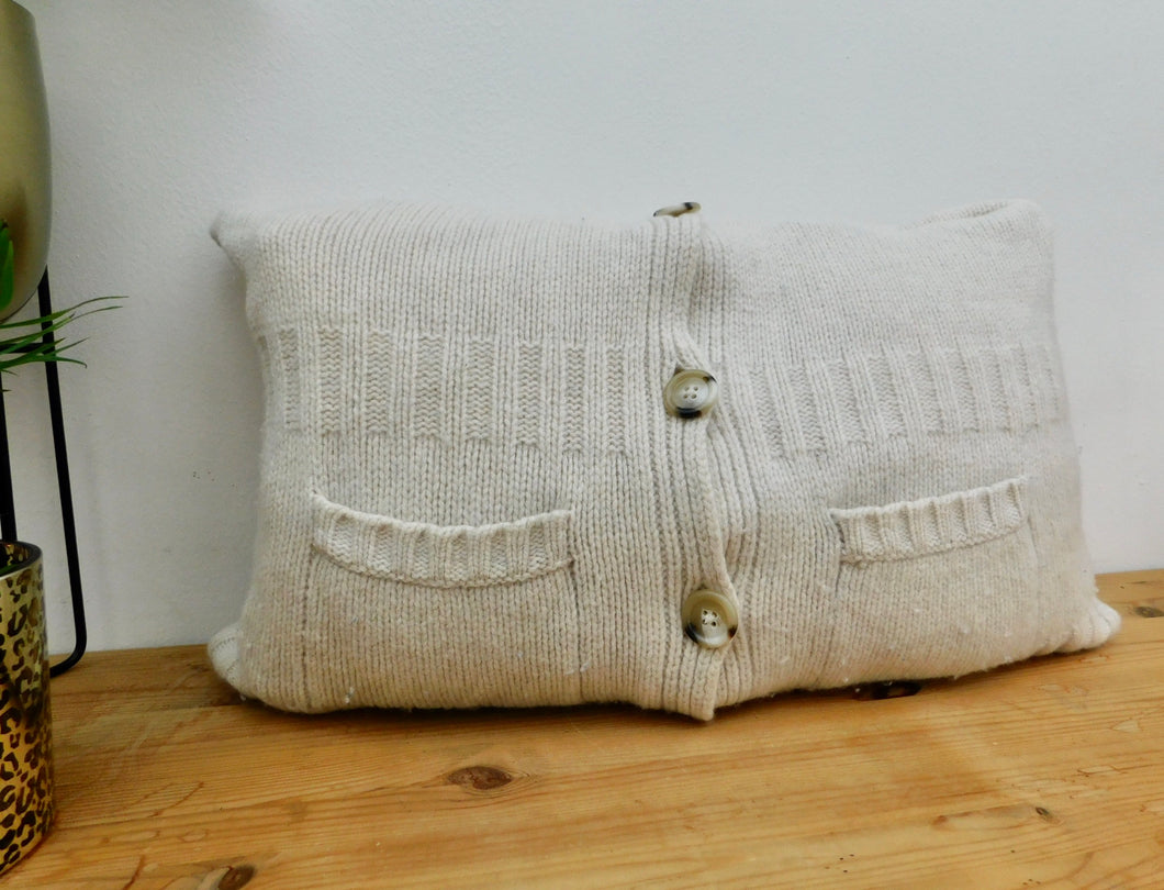 Cream Cardigan Cushion
