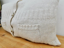 Load image into Gallery viewer, Cream Cardigan Cushion