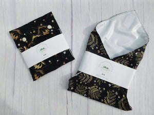 Flower Print Reusable Sandwich Wrap Bundle