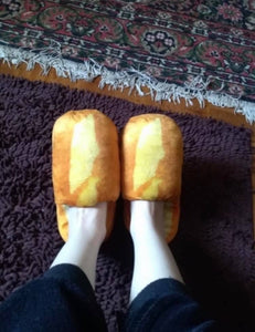 Loafers (Pantuflas): 3D Bread Adult Slippers