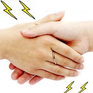 Electric shocking handshake.