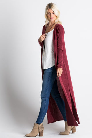 favorite new sweater, an extra long cardigan, now available at shopmalias.com