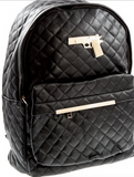 Forty-five fly faux-leather full sized backpack accessory